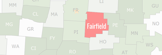 Fairfield County Map
