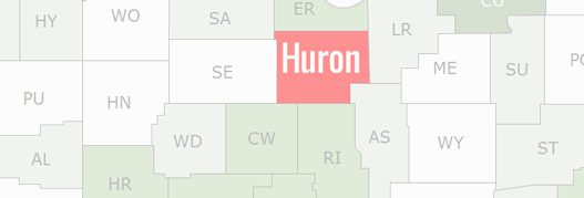 Huron County Map