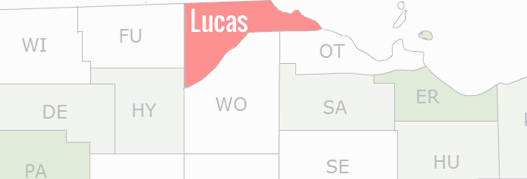 Lucas County Map