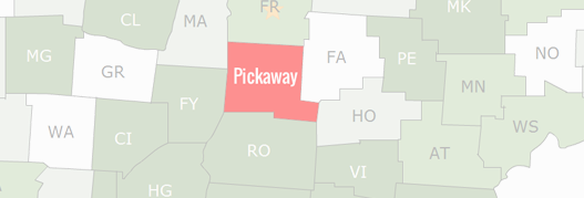 Pickaway County Map
